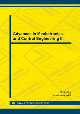 Abbildung von Yarlagadda | Advances in Mechatronics and Control Engineering III | 2014 | Selected, peer reviewed papers... | Volume 678