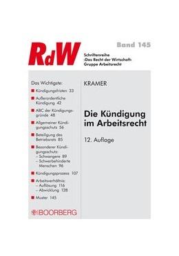 Abbildung von Kramer | Die Kündigung im Arbeitsrecht | 12., überarbeitete Auflage | 2014 | 145