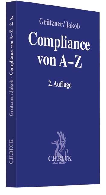 Compliance von A-Z | Grützner / Jakob | 2. Auflage, 2015 | Buch (Cover)