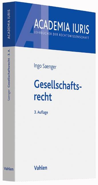 Gesellschaftsrecht   Saenger   3. Auflage, 2015   Buch (Cover)