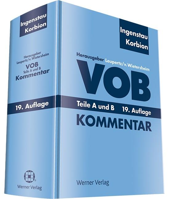 VOB Teile A und B | Ingenstau / Korbion / Leupertz / Wietersheim (Hrsg.) | 19. Auflage, 2015 | Buch (Cover)
