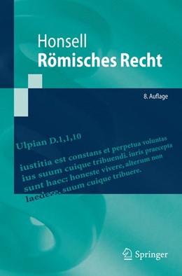 Abbildung von Honsell   Römisches Recht   8. Auflage   2015