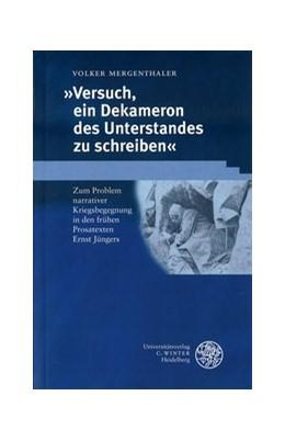 Abbildung von Mergenthaler | Versuch, ein Dekameron des Unterstandes zu schreiben | 2001 | Zum Problem narrativer Kriegsb... | 183