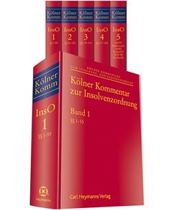 Abbildung von Hess (Hrsg.) | Kölner Kommentar zur Insolvenzordnung | 2017 | Gesamtwerk in 5 Bänden