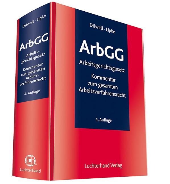 ArbGG | Düwell / Lipke (Hrsg.) | 4. Auflage, 2016 | Buch (Cover)