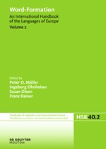 Word-Formation   Müller / Ohnheiser / Olsen / Rainer, 2015   Buch (Cover)