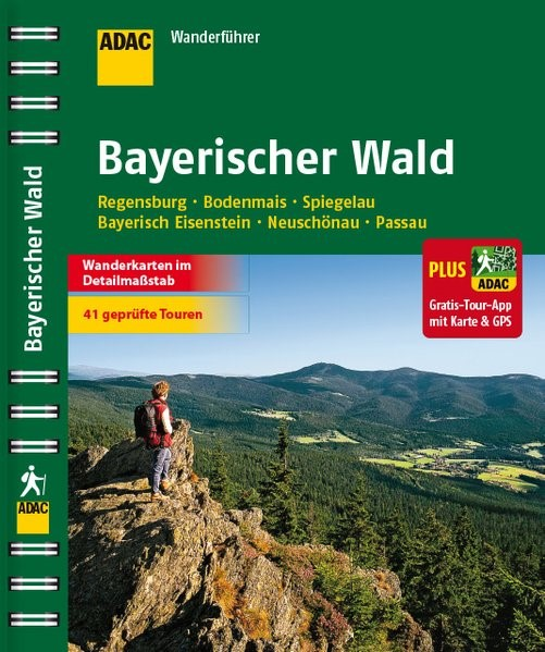 ADAC Wanderführer Bayerischer Wald plus Gratis Tour App, 2015   Buch (Cover)