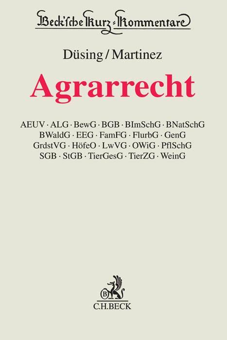 Agrarrecht | Düsing / Martinez | Buch (Cover)