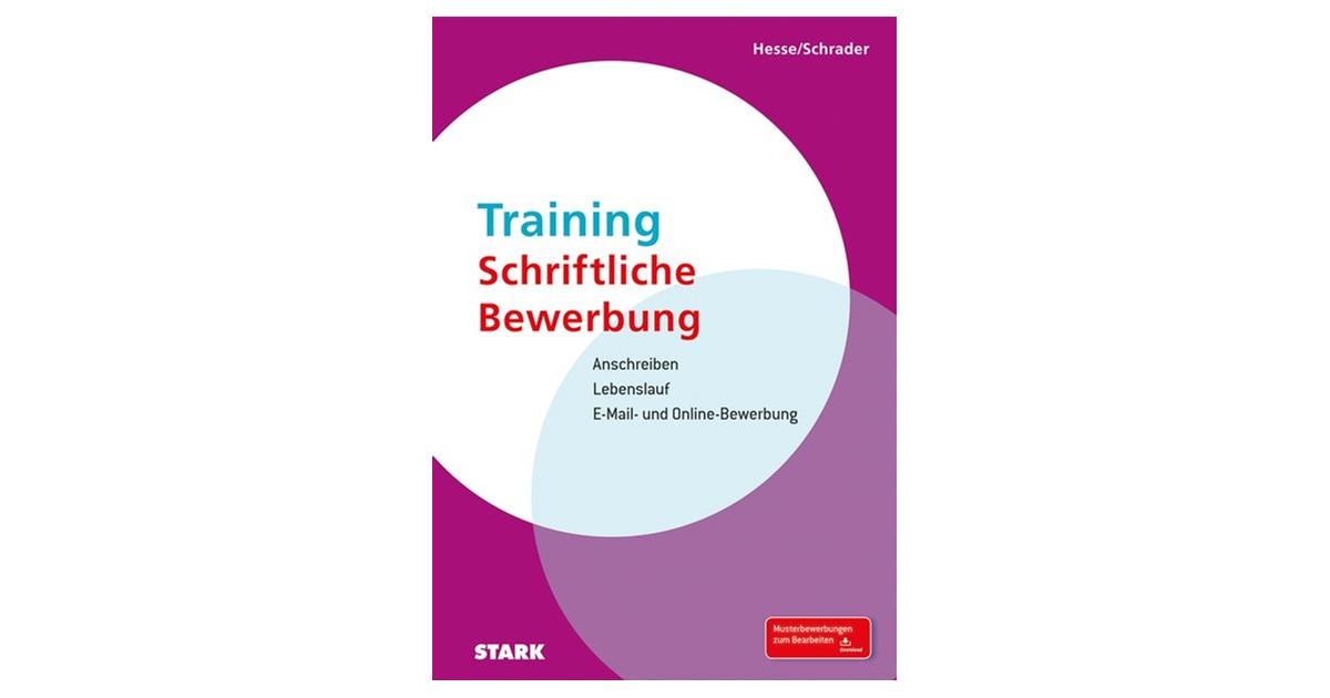 training schriftliche bewerbung hesse schrader neuauflage 2015 buch beck shopde - Schriftliche Bewerbung