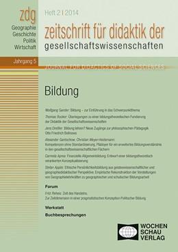 Abbildung von Sander | Bildung | 2014 | Zeitschrift für Didaktik der G...