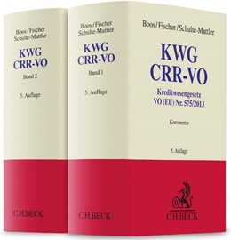 Abbildung von Boos / Fischer / Schulte-Mattler   KWG, CRR-VO   5. Auflage   2016   Kommentar zu Kreditwesengesetz...