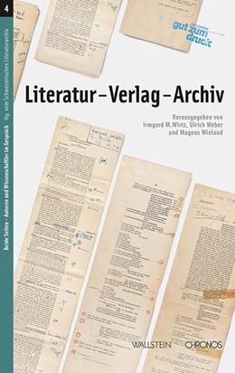 Abbildung von Wirtz / Weber / Wieland | Literatur - Verlag - Archiv | 2015 | 04