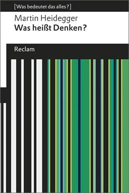 Abbildung von Heidegger | Was heißt Denken? | 1. Auflage | 2015 | 19283 | beck-shop.de