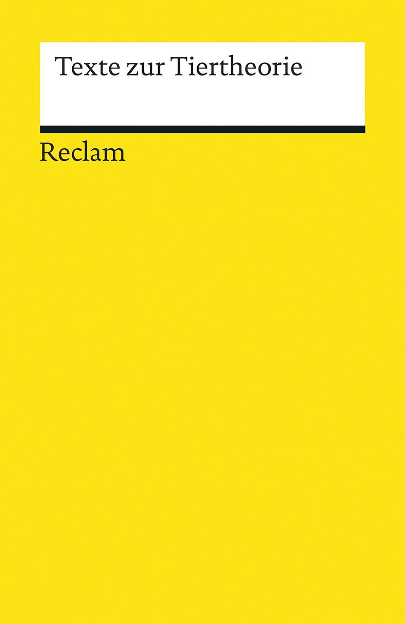 Texte zur Tiertheorie   Borgards / Köhring / Kling, 2015   Buch (Cover)