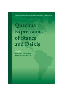 Abbildung von Manley / Muntendam | Quechua Expressions of Stance and Deixis | 2015 | 11