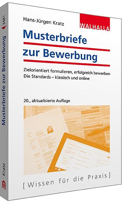 Musterbriefe zur Bewerbung | Kratz | 20., aktualisierte Auflage, 2015 | Buch (Cover)