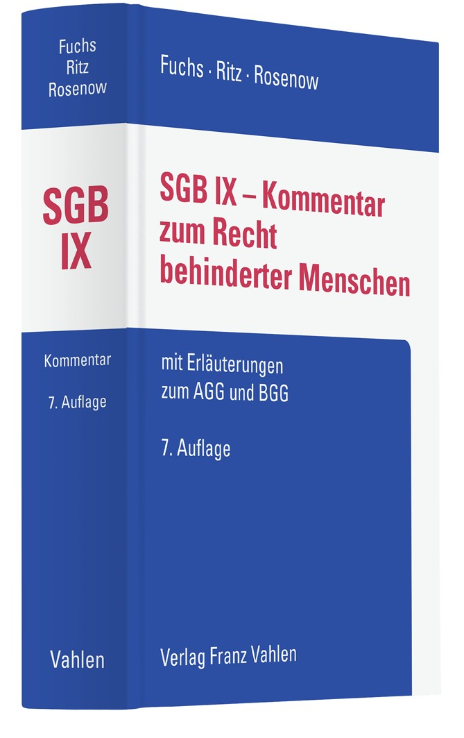 SGB IX - Kommentar zum Recht behinderter Menschen | Fuchs / Ritz / Rosenow | 7. Auflage, 2019 | Buch (Cover)