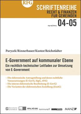 Abbildung von E-Government auf kommunaler Ebene | 2014 | Ein rechtlich-technischer Leit... | 4-5/2014
