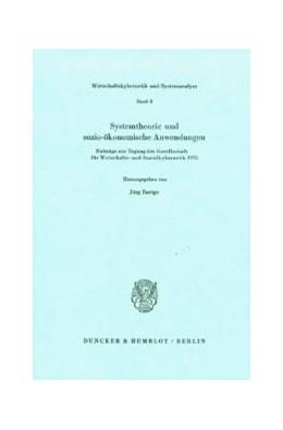 Abbildung von Baetge | Systemtheorie und sozio-ökonomische Anwendungen. | 1976 | Beiträge zur Tagung der Gesell... | 3