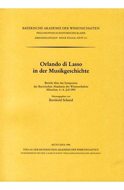 Cover: , Orlando di Lasso in der Musikgeschichte