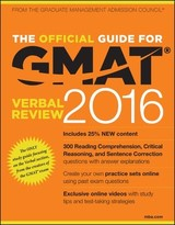 The Official Guide for GMAT Verbal Review 2016 ith Online Question Bank and Exclusive Video   4. Auflage, 2015   Buch (Cover)