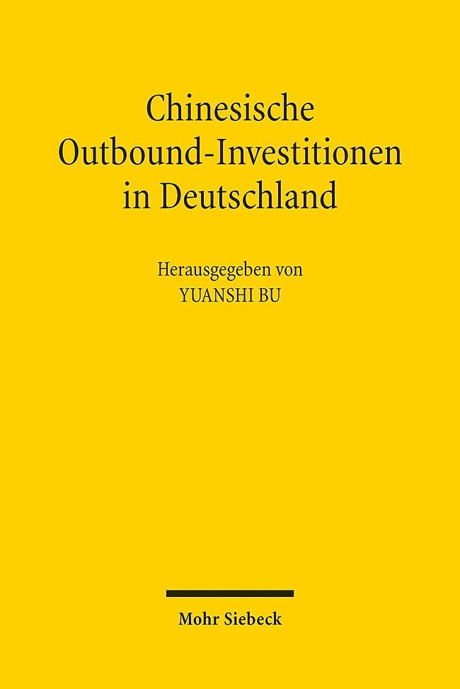 Chinesische Outbound-Investitionen in Deutschland | Bu, 2015 | Buch (Cover)