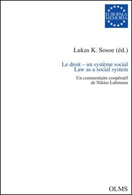Abbildung von Sosoe | Le droit - un système social. Law as a Social System | 1. Auflage | 2015 | 109 | beck-shop.de