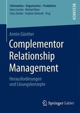 Abbildung von Günther   Complementor Relationship Management   1. Auflage   2015   beck-shop.de
