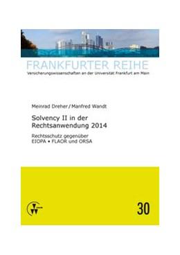 Abbildung von Wandt / Dreher | Solvency II in der Rechtsanwendung 2014 | 1. Auflage | 2014 | 30 | beck-shop.de