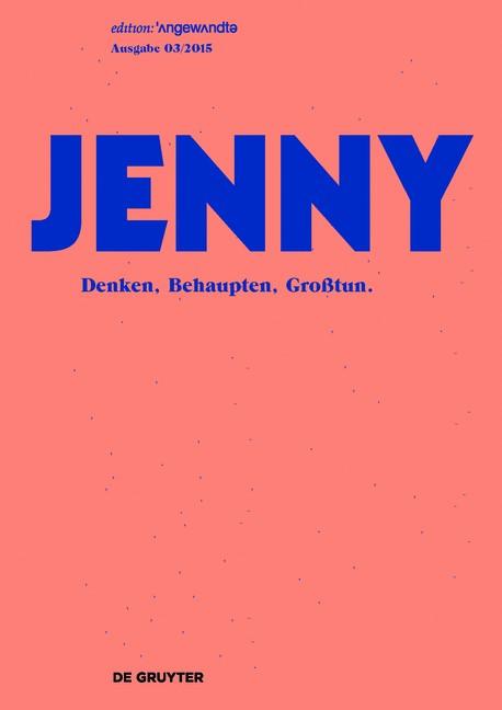 JENNY. Ausgabe 03 | Brandt / Penzar / Ures / Wieser / Ilitcheva, 2019 | Buch (Cover)