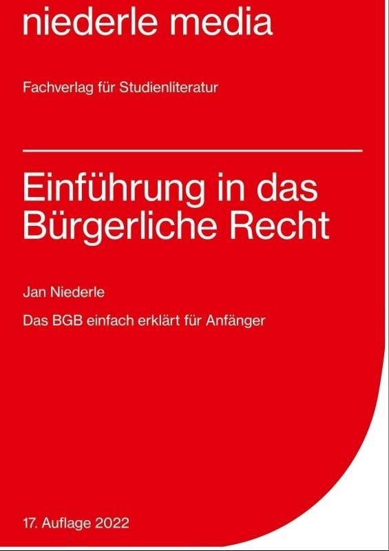 Einführung in das Bürgerliche Recht | Niederle | 10. Auflage, 2017 | Buch (Cover)