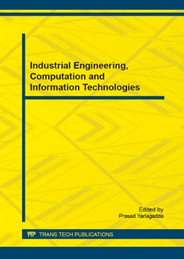 Abbildung von Yarlagadda   Industrial Engineering, Computation and Information Technologies   2015   Selected, peer reviewed papers...   Volumes 701-702