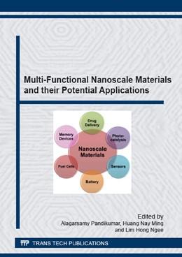Abbildung von Pandikumar / Huang | Multi-Functional Nanoscale Materials and their Potential Applications | 1. Auflage | 2015 | Volume 807 | beck-shop.de