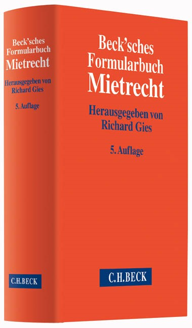 Beck'sches Formularbuch Mietrecht | Buch (Cover)