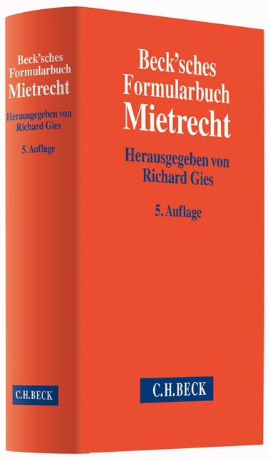 Beck'sches Formularbuch Mietrecht | 5., überarbeitete und erweiterte Auflage, 2015 | Buch (Cover)