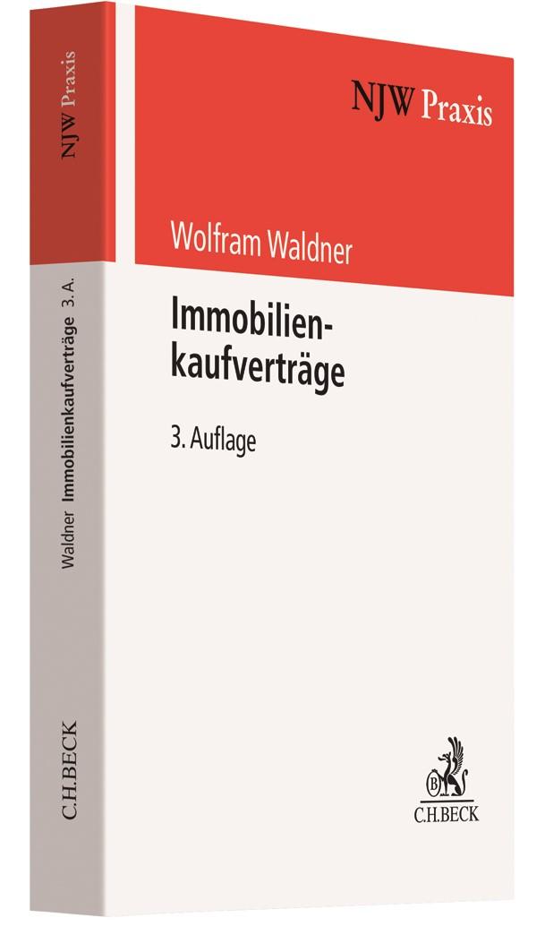 Immobilienkaufverträge | Waldner | 3. Auflage, 2019 | Buch (Cover)