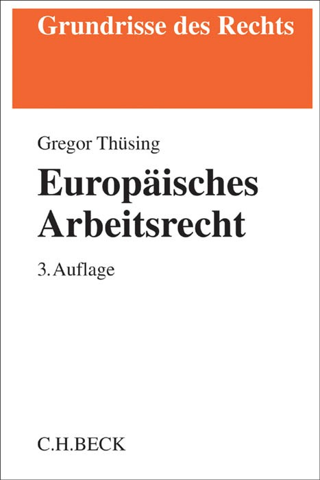 Europäisches Arbeitsrecht | Thüsing | Buch (Cover)