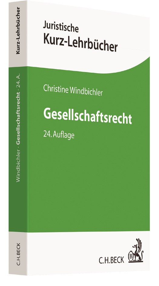 Gesellschaftsrecht | Windbichler | 24., völlig neu bearbeitete Auflage, 2017 | Buch (Cover)