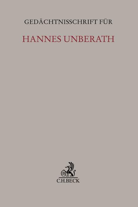 Gedächtnisschrift für Hannes Unberath | Buch (Cover)
