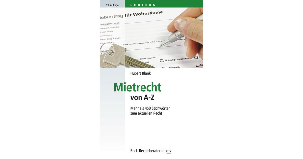 Mietrecht von A-Z   Blank   19., neubearbeitete und ergänzte Auflage ...