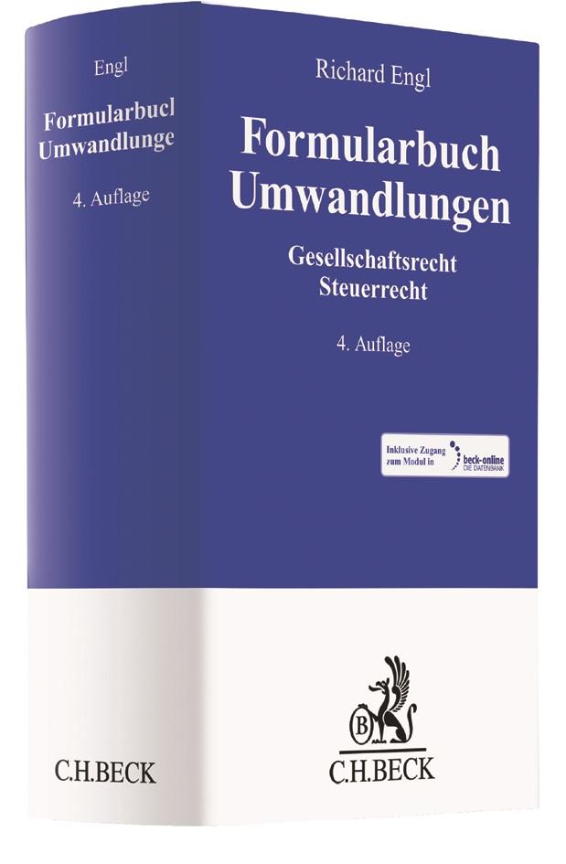 Formularbuch Umwandlungen | Engl | 4., neubearbeitete und erweiterte Auflage, 2017 (Cover)
