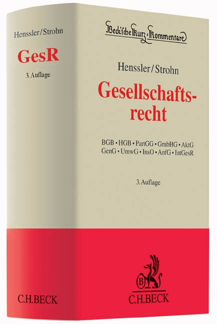 Gesellschaftsrecht: GesR | Henssler / Strohn | 3. Auflage, 2016 | Buch (Cover)