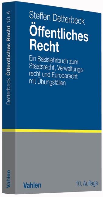 Öffentliches Recht | Detterbeck | 10., völlig neubearbeitete und erweiterte Auflage, 2015 | Buch (Cover)