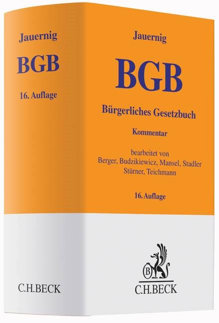 Bürgerliches Gesetzbuch: BGB | Jauernig | 16., neubearbeitete Auflage, 2015 | Buch (Cover)