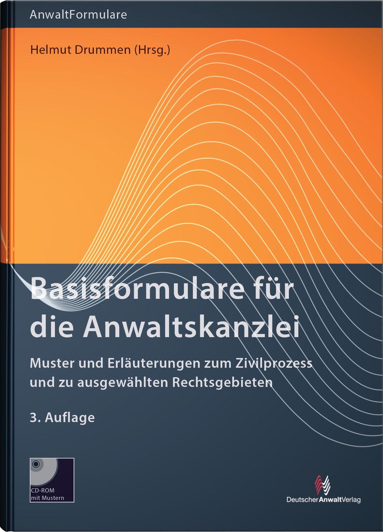 Basisformulare für die Anwaltskanzlei | Drummen | 3. Auflage, 2015 (Cover)