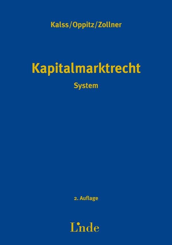 Kapitalmarktrecht | Kalss / Oppitz / Zollner | 2. Auflage 2015, 2015 | Buch (Cover)