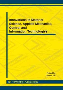 Abbildung von Yan | Innovations in Material Science, Applied Mechanics, Control and Information Technologies | 2015 | Selected, peer reviewed papers... | Volume 710