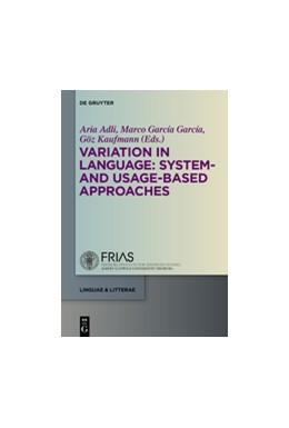 Abbildung von Adli / García García / Kaufmann | Variation in Language: System- and Usage-based Approaches | 2015 | 50