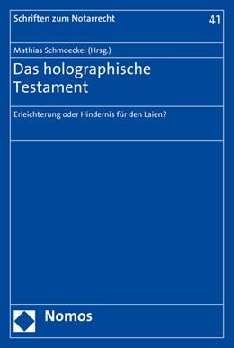 Abbildung von Schmoeckel | Das holographische Testament | 2015 | Erleichterung oder Hindernis f... | 41