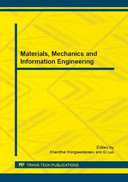 Abbildung von Wongseedakaew / Luo | Materials, Mechanics and Information Engineering | 2015 | Selected, peer reviewed papers... | Volume 729